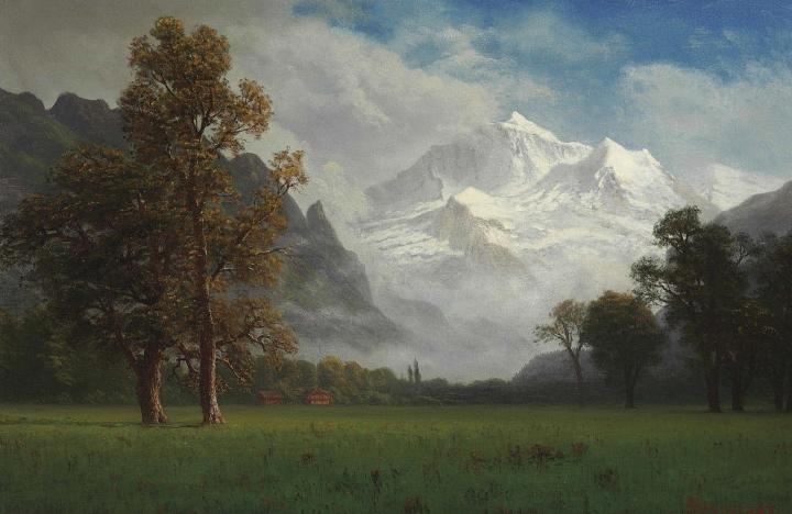 Jungfrau door Albert Bierstadt (1830-1902)